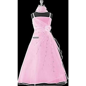 Kerri - Pink Flower Girl Dress